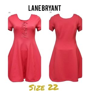 Lane Bryant Plus Sz 22 Pink Fit & Flare Dress